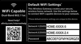 Sample WiFi information panel