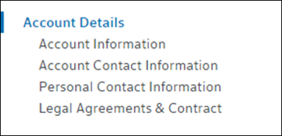 Legal Agreements & Contract link is at bottom.