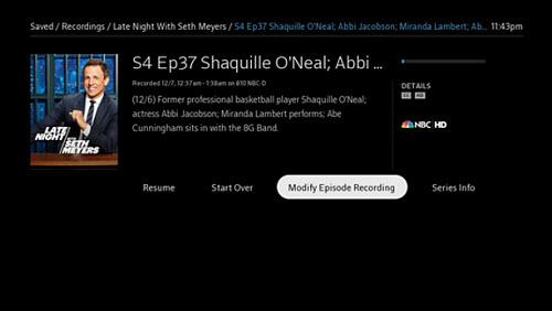 The Program Details screen.
