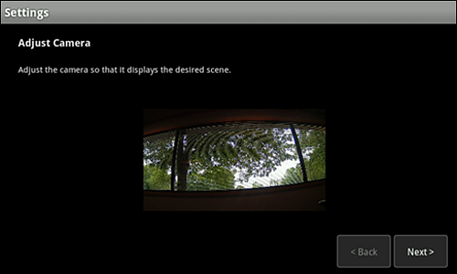 Adjust Camera screen with image highlighted.