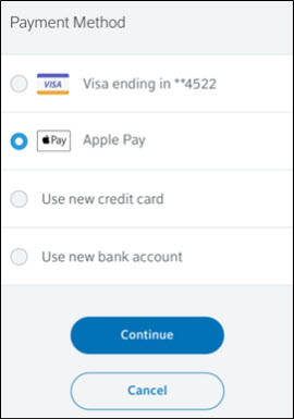 Apple Pay is the second option.