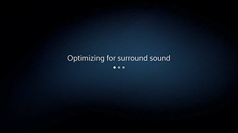 Your device will automatically optimize for sound.