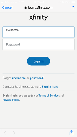 Insert your username and password into the fields at the center of the screen