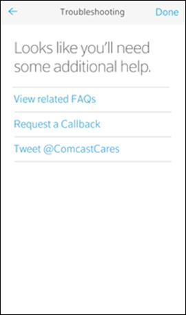 Troubleshooting screen messaging: