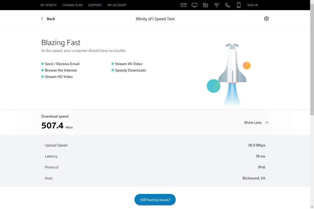 speed tests connected to main line.jpg