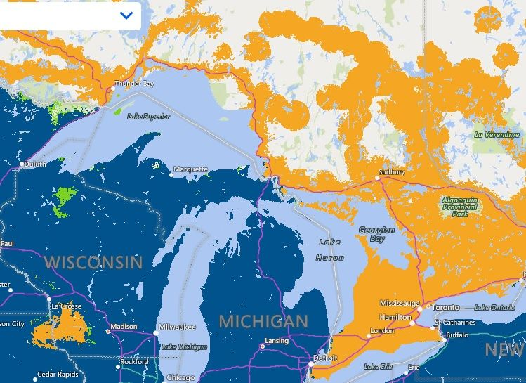 At&T Coverage Map Canada AT&T Canada coverage | AT&T Community Forums
