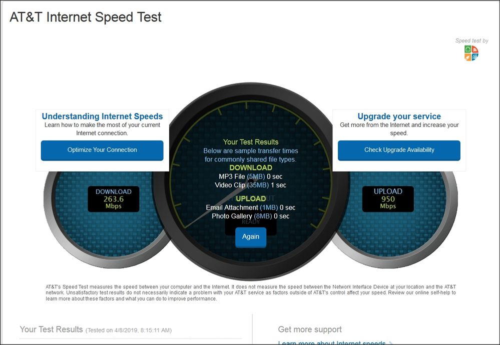 New Installation - Internet 1000 Download Max 265 Mbps ...