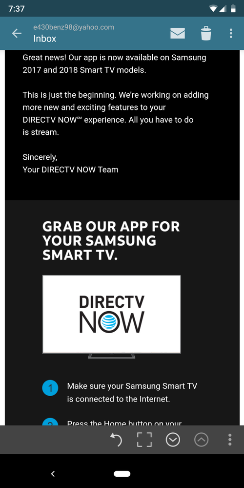 Samsung TV 2017 and 2018 Direct Tv app available | AT&T Community Forums