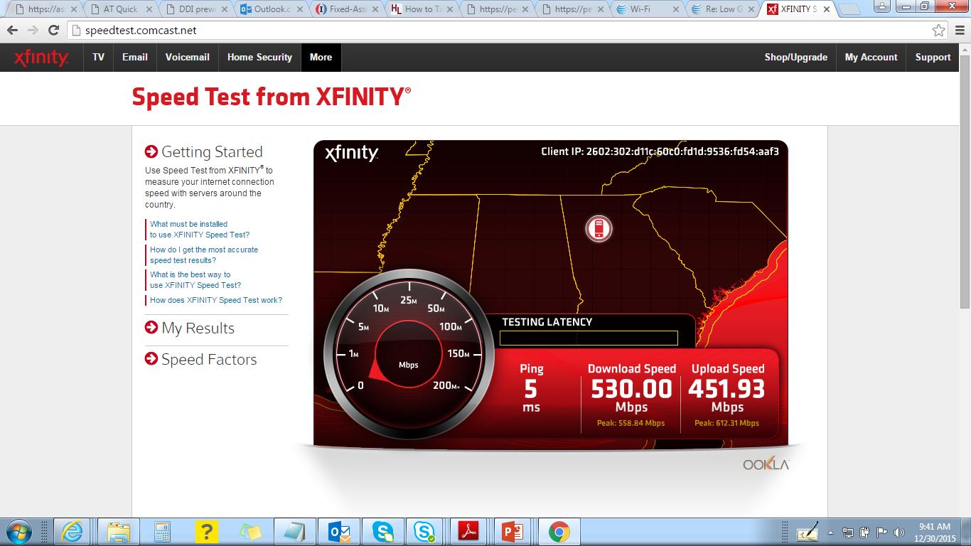 Xfinity speed test ookla speed