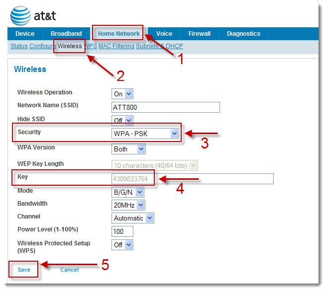 Wifi Password | AT&T Community Forums
