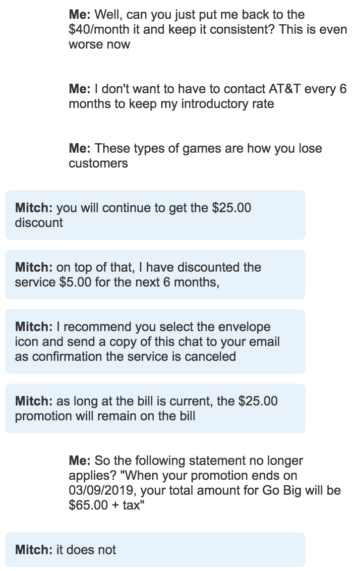 Chat with Agent Mitch